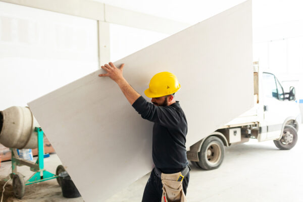 Caryying a plasterboard