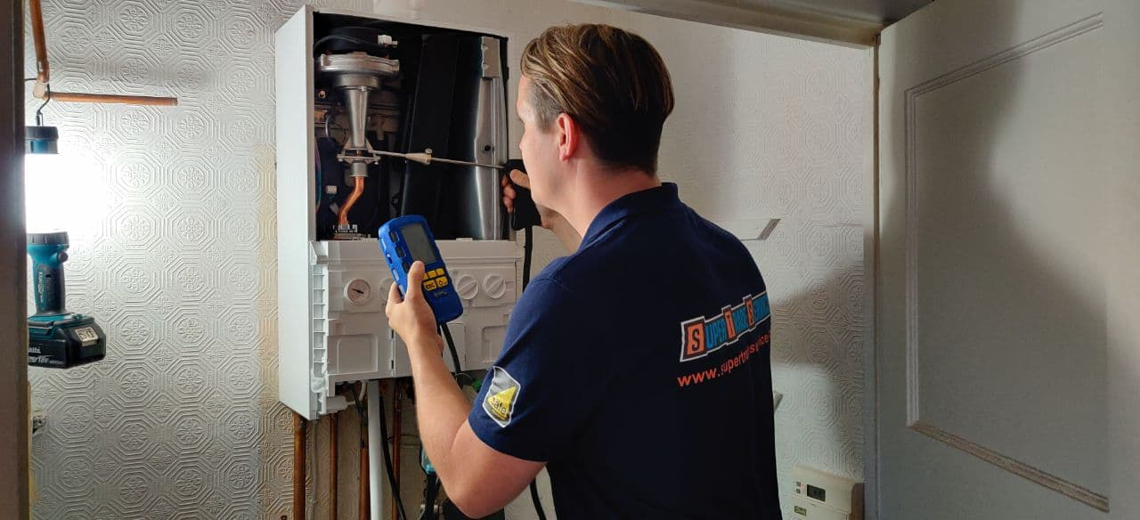 boiler installation gas analyser test